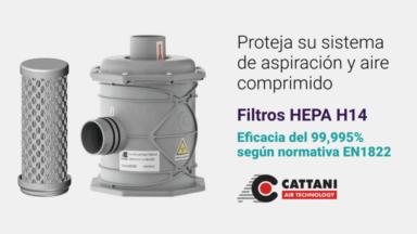Filtros antibacterianos HEPA H14 (Cattani): Los más fiables