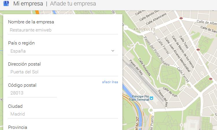 Crear ficha Google My Business